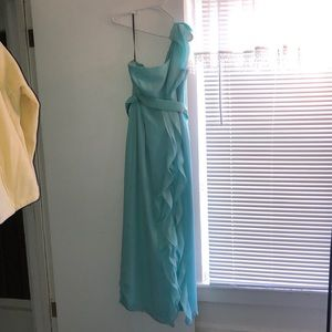 Vera wang bridesmaid dress color spa